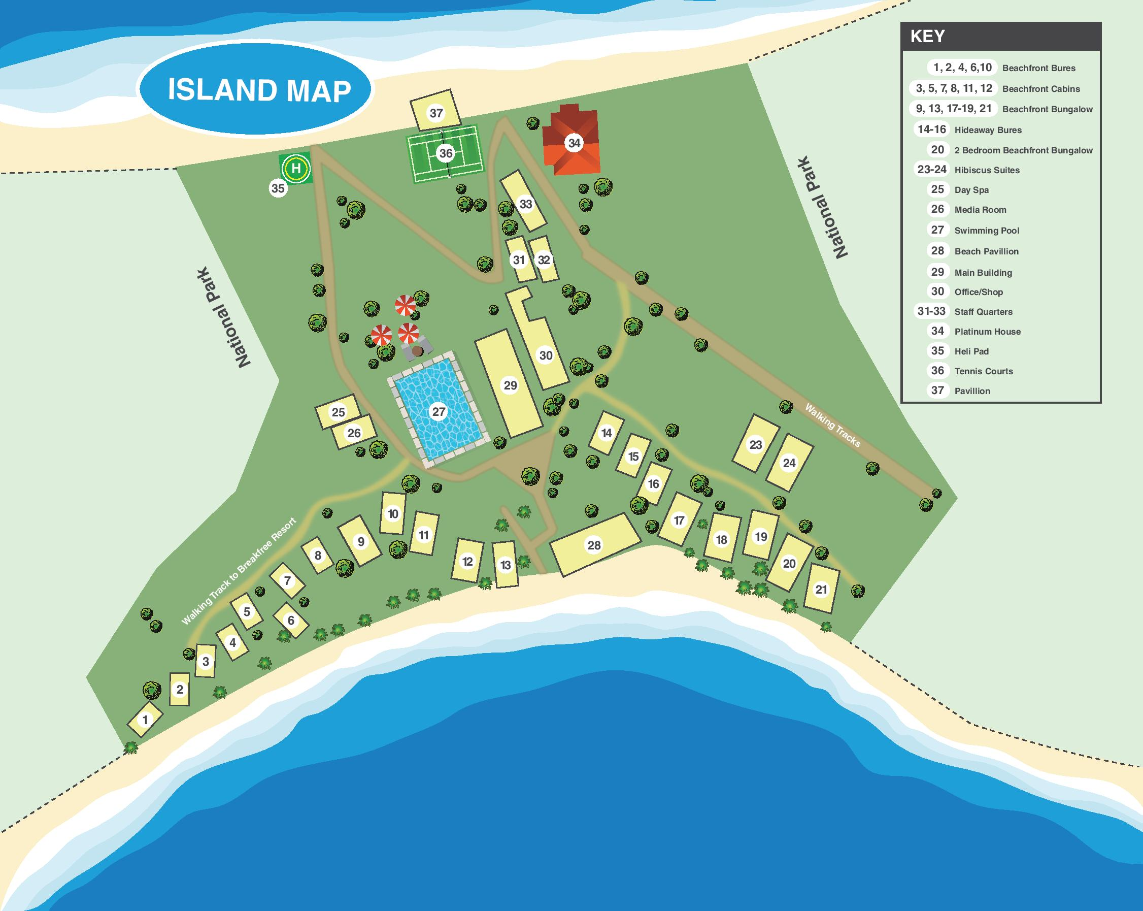 palm bay resort map