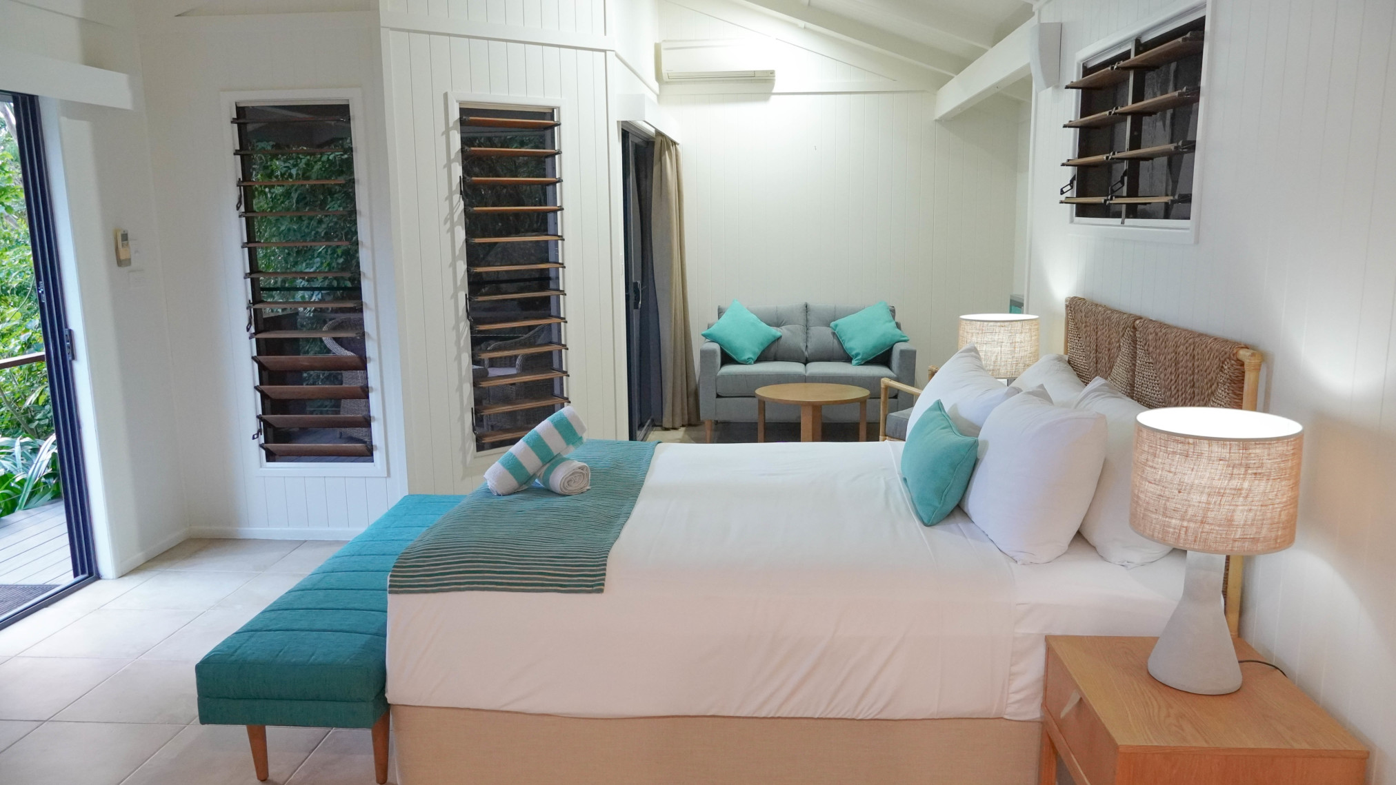 Ocean view bure bedroom